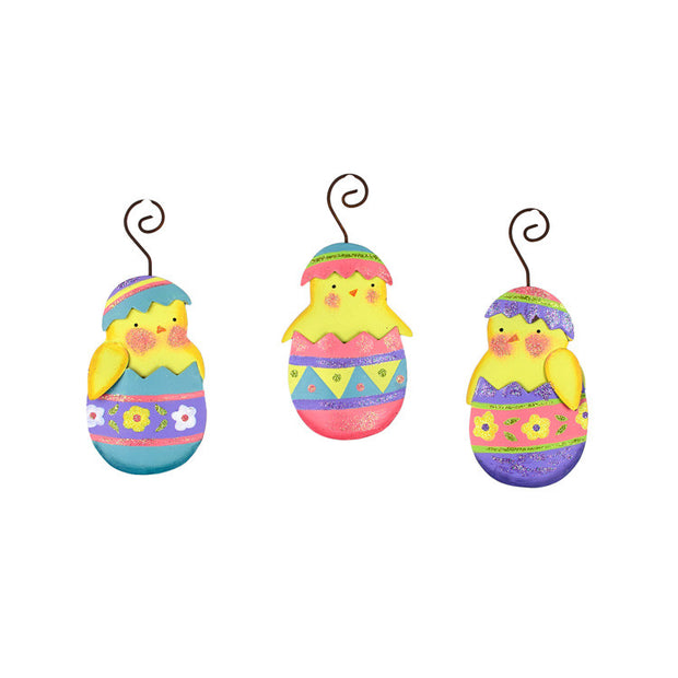 Easter Classic Chick in Eggs Ornaments The Round Top Collection E9028 - FancySchmancyDecor