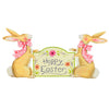 "Pastel Rabbits with ""Happy Easter"" Banner The Round Top Collection E9032 - FancySchmancyDecor - 2"