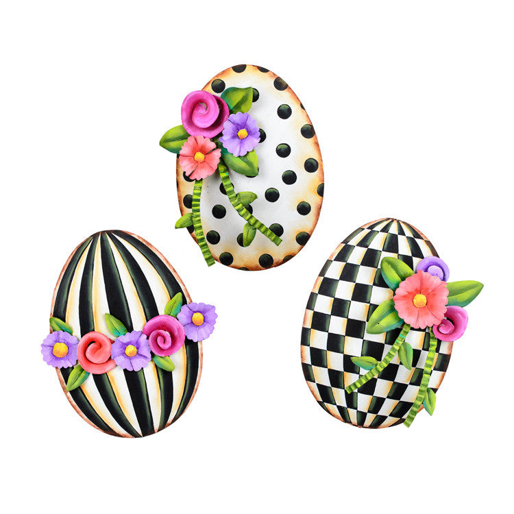 Elegant Egg Trio by The Round Top Collection E9063 - FancySchmancyDecor
