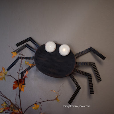 Spooky Spider Light Up by The Round Top Collection F17011