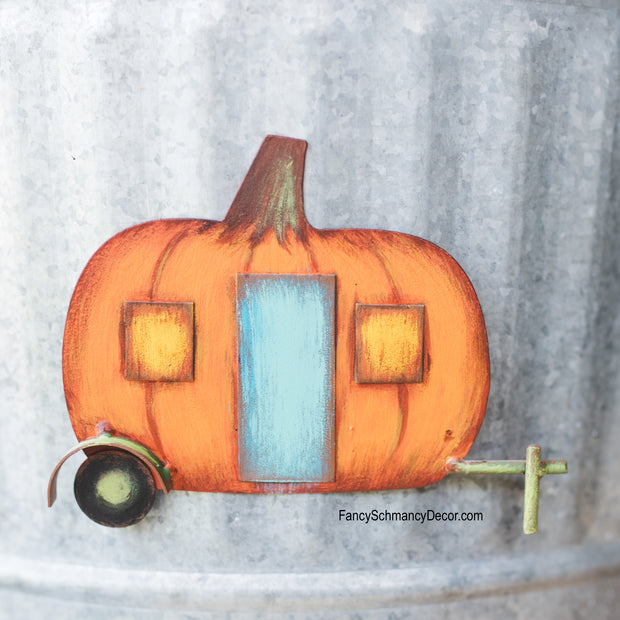Pumpkin Camper Magnet by The Round Top Collection F18014
