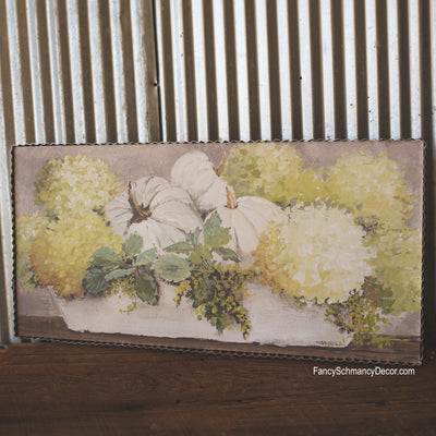 Gallery Trough of Pumpkins & Hydrangeas by The Round Top Collection F18071
