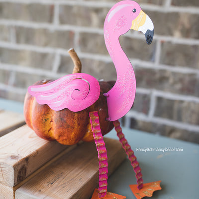 Flamingo Pumpkin Parts 5 Pieces by The Round Top Collection F18076