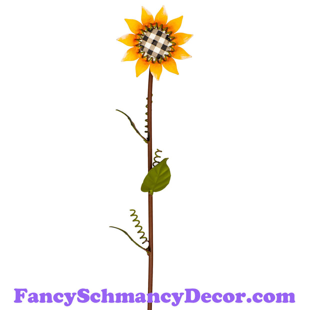 Large Buffalo Checked Sunflower by The Round Top Collection F19051