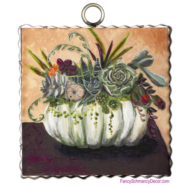 Gallery Cream Pumpkin and Succulents by The Round Top Collection F19096