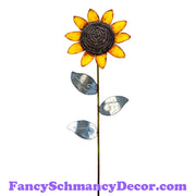Large Galvanized Sunflower Stake by The Round Top Collection F18002