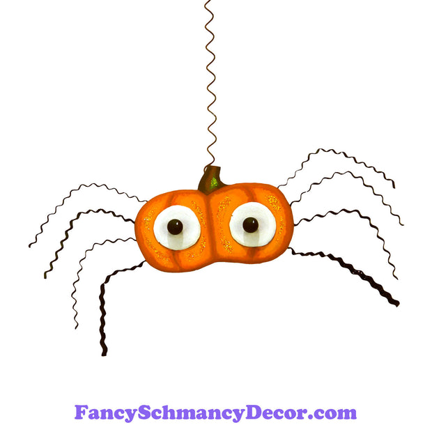 Hanging Pumpkin Spider by The Round Top Collection F19015