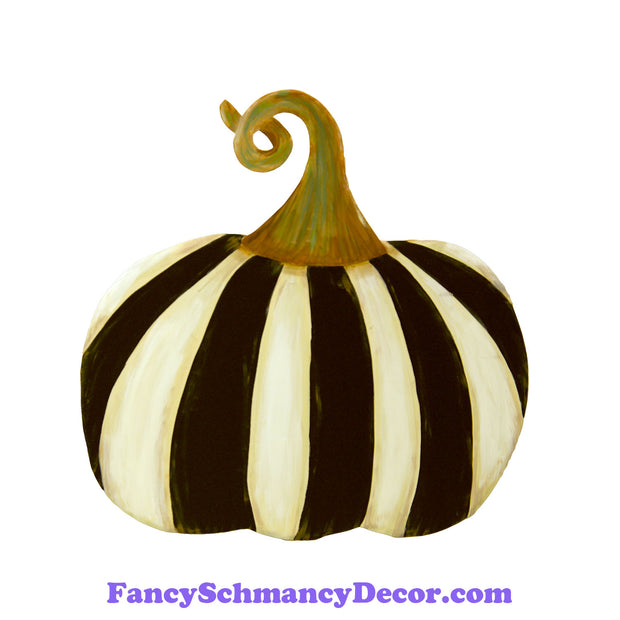 Black And White Striped Pumpkin Short by The Round Top Collection F19027