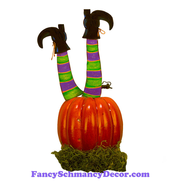 Witch Leg Pumpkin Parts S/2 by The Round Top Collection F19034