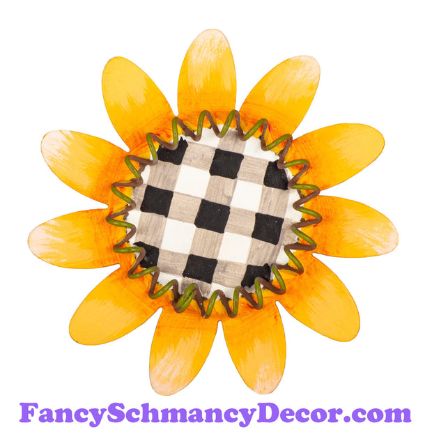 Buffalo Checked Sunflower Magnet by The Round Top Collection F19053