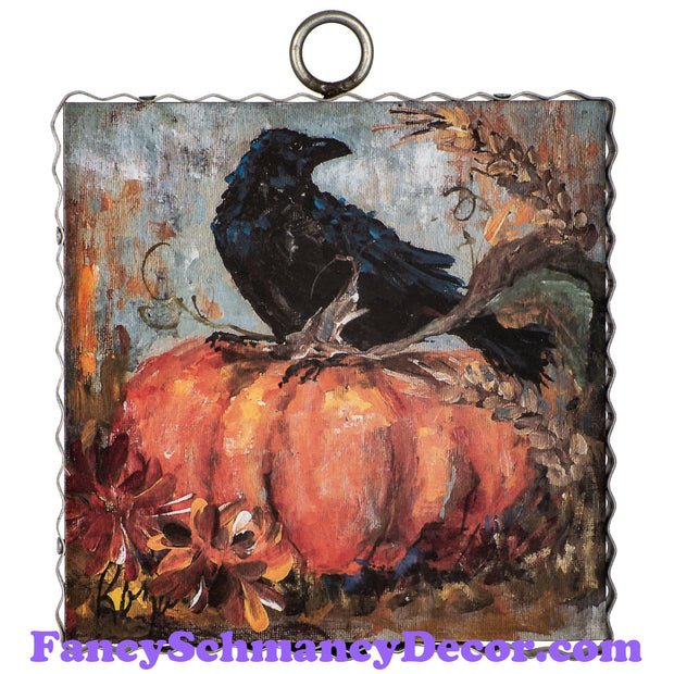 Rozie Pumpkin and Crow by The Round Top Collection F19123