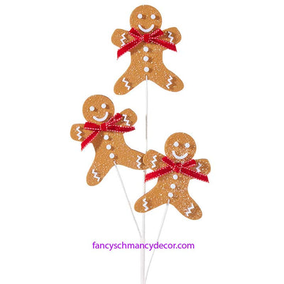 Gingerbread Man Spray by RAZ Imports