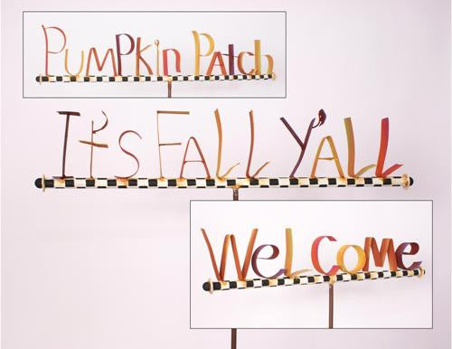 F6074 Fall Word Stakes The Round Top Collection - FancySchmancyDecor