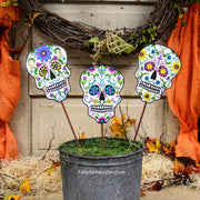 Day of The Dead Skulls The Round Top Collection F9052