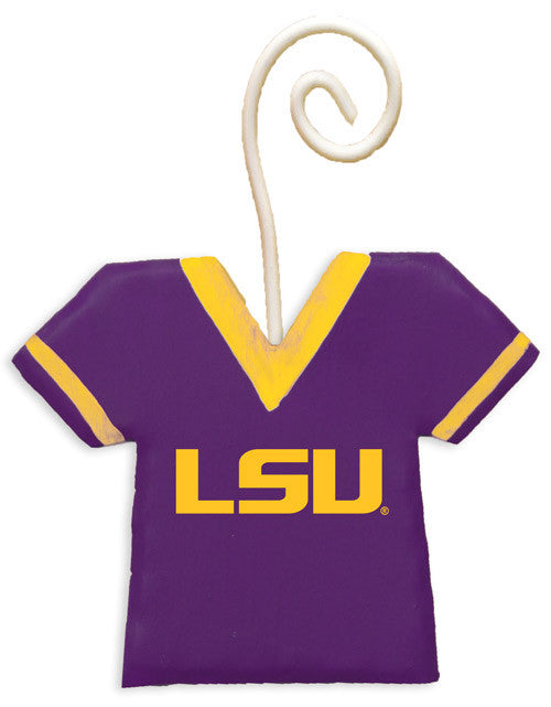 G013-LSU NCAA LSU Jersey School Ornament The Round Top Collection - FancySchmancyDecor