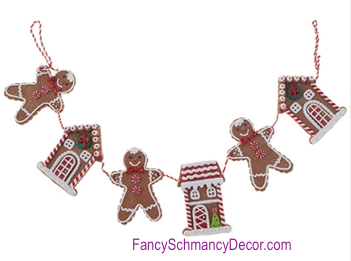 Gingerbread Garland by Raz Imports