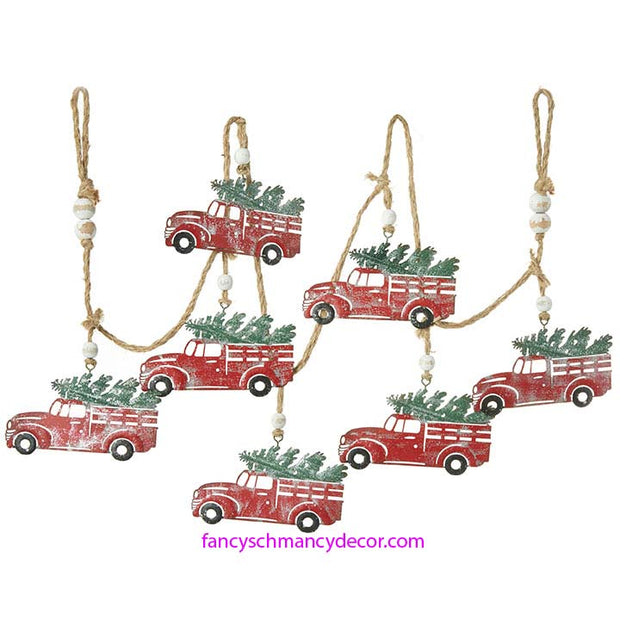6' Red Truck Metal Garland by RAZ Imports