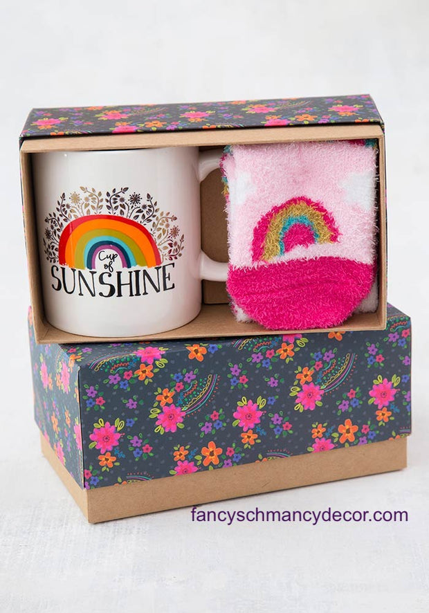 Rainbow Mug & Cozy Sock Gift Set by Natural Life