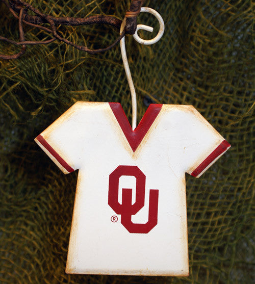 GOKU013 NCAA Oklahoma University Jersey School Ornament The Round Top Collection - FancySchmancyDecor
