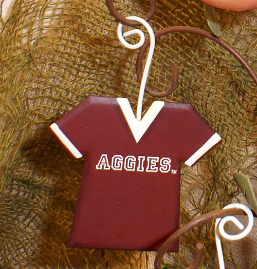 GTAM013 NCAA Texas A&M Jersey School Ornament The Round Top Collection - FancySchmancyDecor