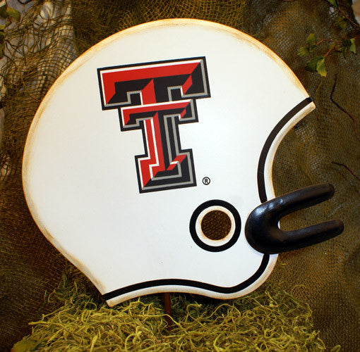 GTTU008 NCAA Texas Tech University Helmet Stake The Round Top Collection - FancySchmancyDecor