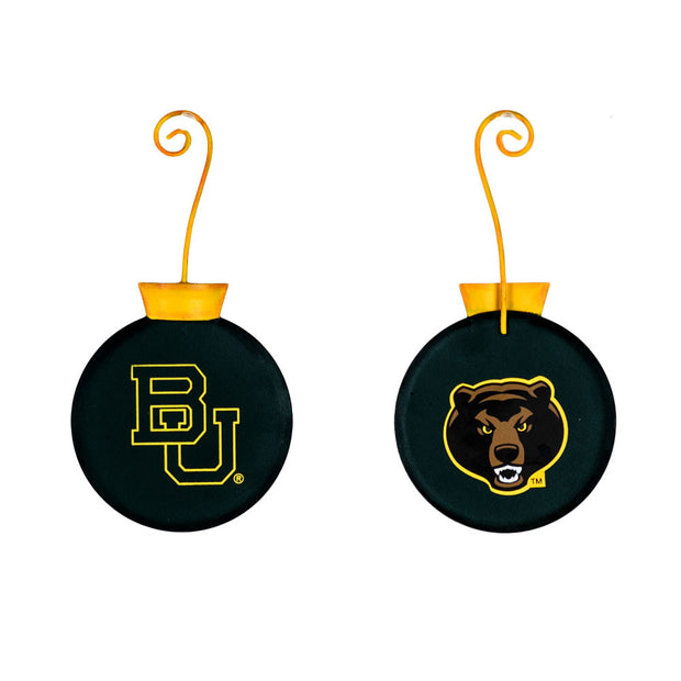 GY205-BU NCAA Baylor University School Ornament The Round Top Collection - FancySchmancyDecor