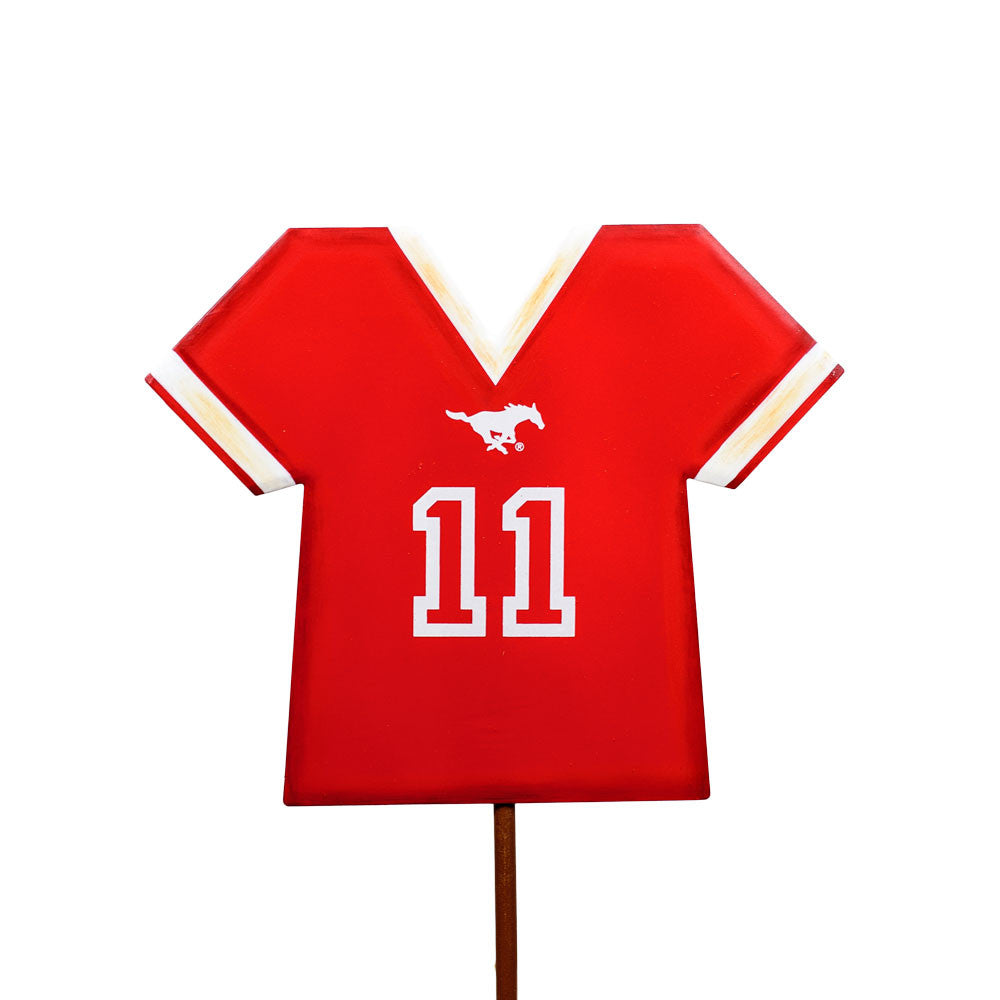 GY206-SMU Southern Methodist University Jersey Stake by The Round Top Collection - FancySchmancyDecor