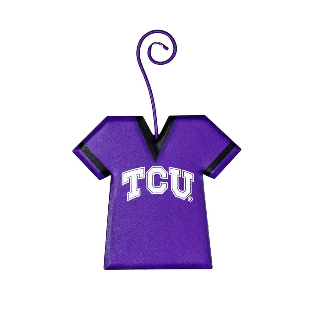 GY208-TCU NCAA Texas Christian University Jersey School Ornament The Round Top Collection - FancySchmancyDecor