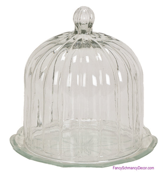 Glass Cloche/Domed Cover Dish