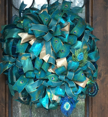 Holiday Peacock Wreath