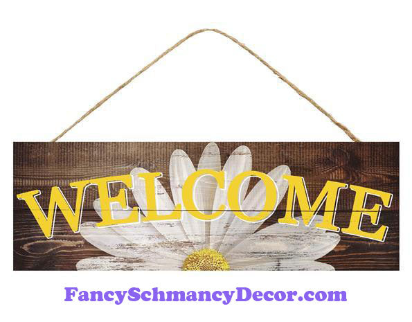 "15"" L X 5"" H Welcome Daisy Sign"