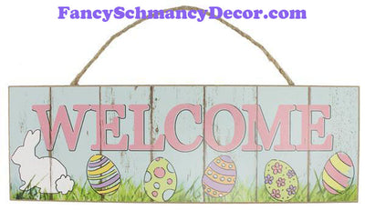 "15"" L X 5"" H Welcome Bunny Sign"