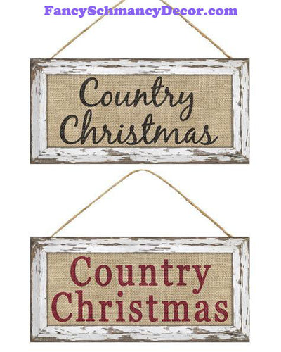 "12.5"" L X 6"" H Country Christmas Sign"