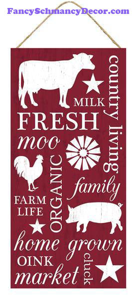"12.5"" Farm Collage Sign"