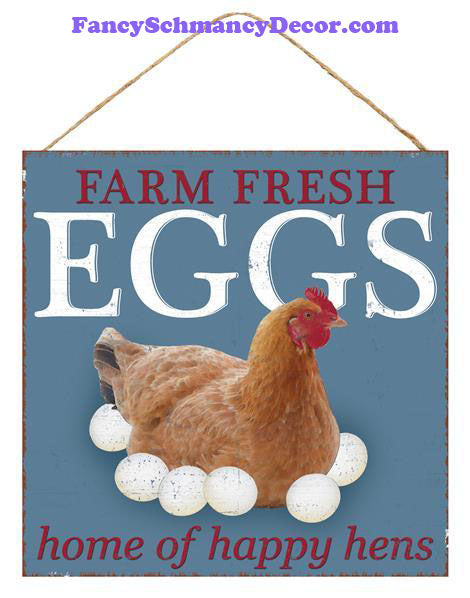 "10"" Happy Hens Sign"