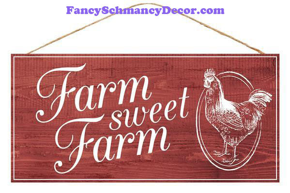 "12.5"" Farm Sweet Farm Sign"