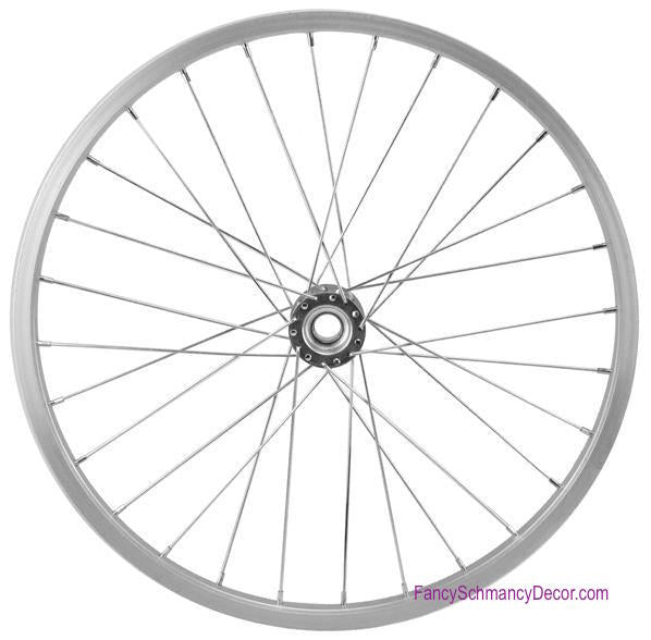 "16.5"" Decorative Bicycle Silver Rim"