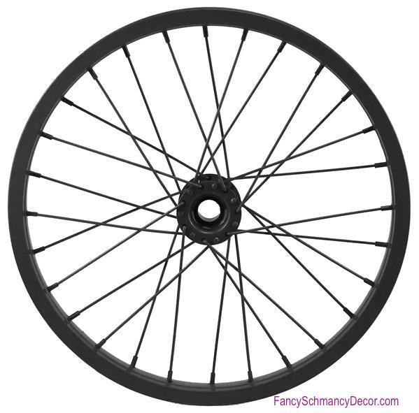 "16.5"" Decorative Bicycle Black Rim"