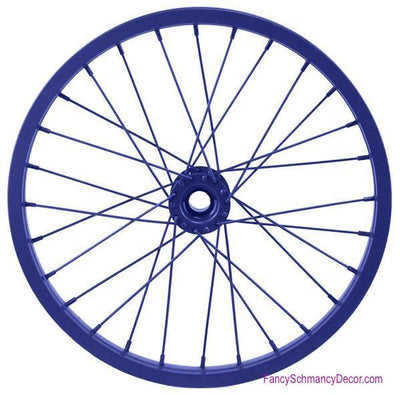 "16.5"" Decorative Bicycle Blue Rim"
