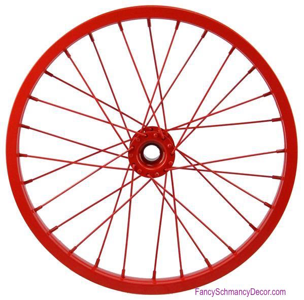 "16.5"" Decorative Bicycle Red Rim"