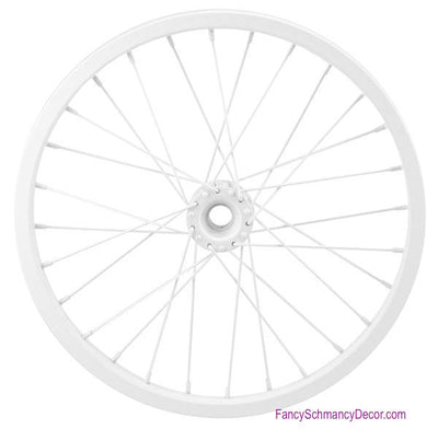 "16.5"" Decorative Bicycle White Rim"