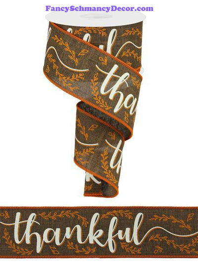 "2.5"" X 10 yd Thankful On Royal"
