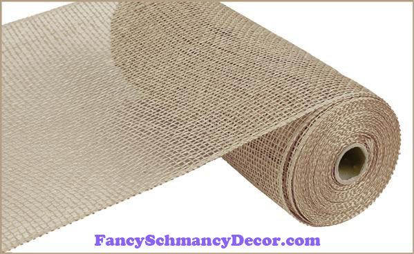 "10"" X 10 yd Poly Natural Burlap Mesh"