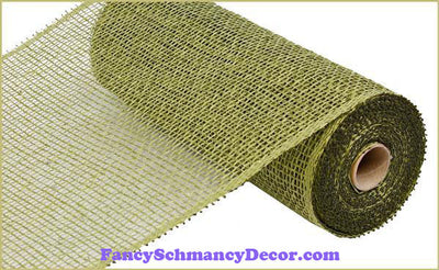 "10"" X 10 yd Poly Burlap Olive Green Mesh"