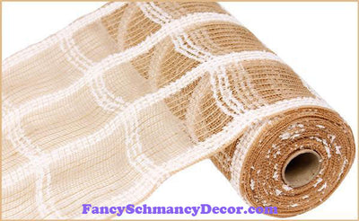 "10.5"" X 10 yd Cotton Drift Jute Natural Check"
