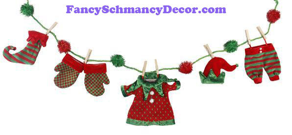 "48"" Elf Red Green Garland"