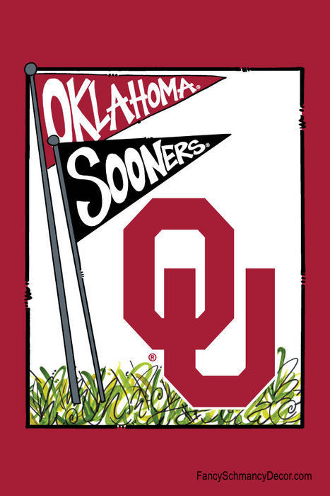 University of Oklahoma Sooners Mascot Flag