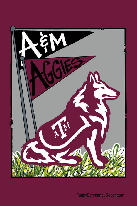 Texas A&M University Mascot Flag
