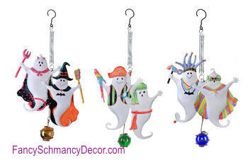 Kathy Hatch Halloween Costume Party Ghost Bouncy - FancySchmancyDecor