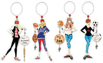 Sports Mom Wine Charm and Magnet - FancySchmancyDecor